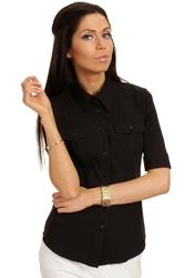 Klasyczna koszula z krótkim rękawem - czarny