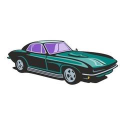 Naklejka kolorowa samochód 129