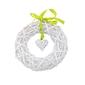 Ozdoba  zawieszka wiklinowa altom design koło z sercem białe 28 cm