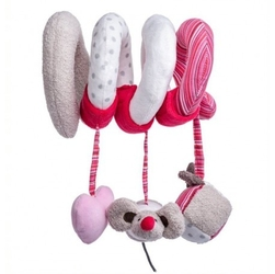 Spirala na łóżko - różowa andżelika
