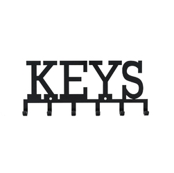 Wieszak ścienny keys czarny - czarny