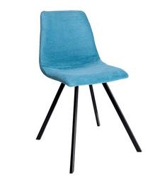 Krzesło tapicerowane do jadalni Ellie sztruks turkusowe