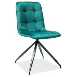 Krzesło welurowe sadie zielone