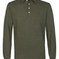 Męska koszulka polo z długim rękawem profuomo zielona s