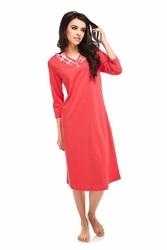 Koszula nocna betina rosabella 238 czerwona rękaw 34
