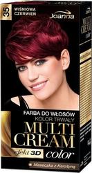 Joanna multi cream color, farba do włosów, 35 wiśniowa czerwień