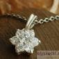 Garcia - srebrny wisiorek z kryształem