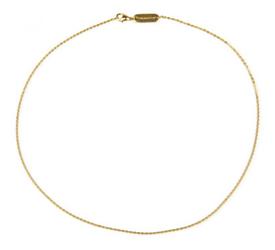 złocony łańcuszek ze stali szlachetnej 558-9, magnetoterapia dzięki magnesom neodynowym