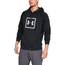 Bluza męska under armour rival fleece logo hoodie - czarny