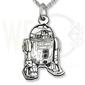 Wisiorek z łańcuszkiem ze srebra kosmiczny robot-1-zest