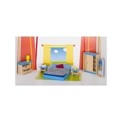 sypialnia drewniane mebelki do domku dla lalek