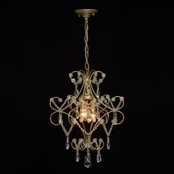 Lampa wisząca o złotym wykończenie z wiszącymi kryształkami mw-light crystal 373014503
