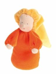 Laleczka mięciutka 0+, pomarańczowa, Grimms - pomarańczowa