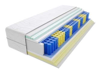 Materac kieszeniowy taba 65x205 cm miękki  średnio twardy 2x visco memory lateks
