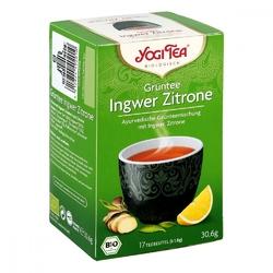 Yogi tea grüntee ingwer zitrone bio filterbeutel