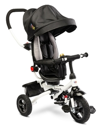 Toyz wroom black rower 3 kołowy z obracanym siedziskiem + prezent 3d