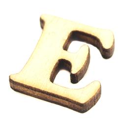 Drewniana literka do rękodzieła - E - E
