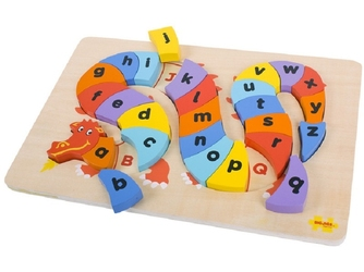 SMOK drewniana układanka do nauki alfabetu