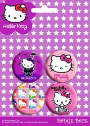 Hello Kitty Mix - zestaw 4 przypinek