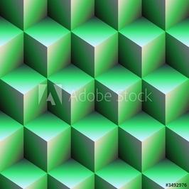 Tapeta ścienna zielone kostki