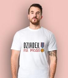 Dziadek na medal t-shirt męski biały l