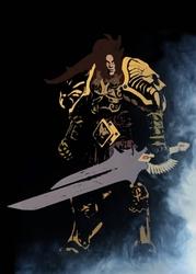 Blizzardverse stencils - varian, the king of alliance, warcraft - plakat wymiar do wyboru: 50x70 cm