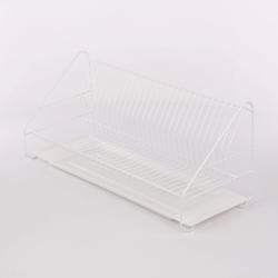 Suszarka do naczyń jednopoziomowa 60 cm biała z tacką