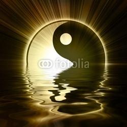 Tapeta ścienna znak yin yang