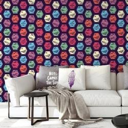 Tapeta na ścianę - hexapastel , rodzaj - tapeta flizelinowa