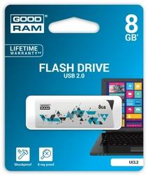 GOODRAM CLCK 8GB USB2.0 WHITE