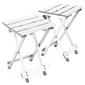 Zestaw 2 składanych stołków taboretów aluminiowych 25x30x41 cm + torba