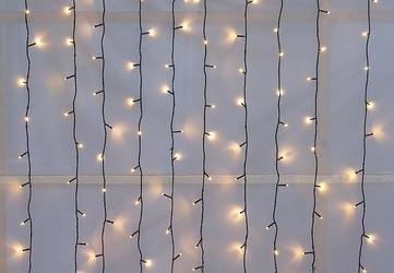 Światełka 200 led lampki zewnętrzne kurtyna