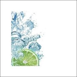 Limonka w wodzie - plakat premium