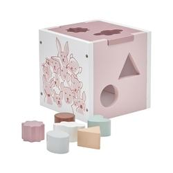 Drewniany sorter kids concept - różowy
