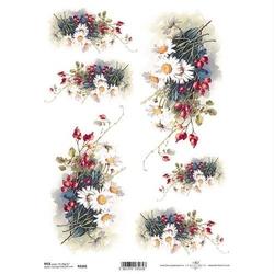 Papier ryżowy ITD A4 R1101 kwiaty bukiet