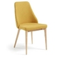 Tapicerowane krzesło roxie żółte
