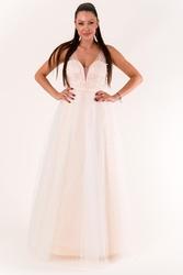 Eva  lola sukienka  krem 60009-4