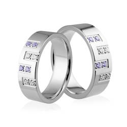Obrączki srebrne - wzór ag-153-2