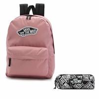 Zestaw plecak szkolny Vans Realm Nostalgia Rose + piórnik OTW Pencil Pouch