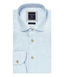 Błękitna koszula profuomo o drobnej strukturze 40