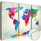 Obraz na szkle akrylowym - mapa świata: eksplozja kolorów glass