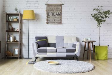 Sofa dwuosobowa patchwork grey mix