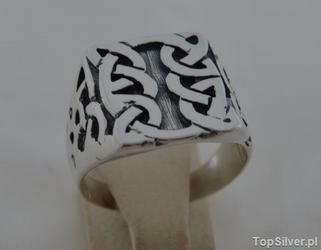 Vito - srebrny sygnet pierścień