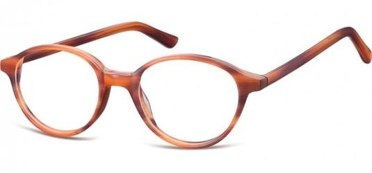 Okulary oprawki okragle sunoptic cp147f bursztynowe