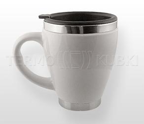 Ceramiczny kubek termiczny 450 ml cerio biały