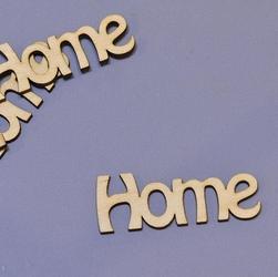 Drewniany napis Home 3x8 cm - HOM