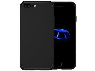 Etui silikonowe alogy slim case do apple iphone 78 plus czarne +szkło