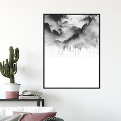 Plakat w ramie - cloudy design , wymiary - 60cm x 90cm, ramka - biała