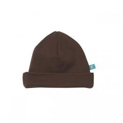 Bawełniana czapeczka dla niemowląt brązowa