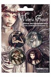 Victoria Frances - zestaw 4 przypinek